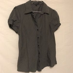 Express Design Studio black white striped blouse